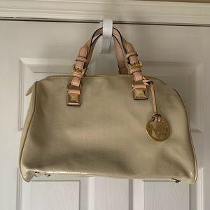 Cream Michael Kors purse